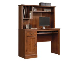 Sauder Camden County Collection Computer Desk W/hutch in Planked Cherry 101736