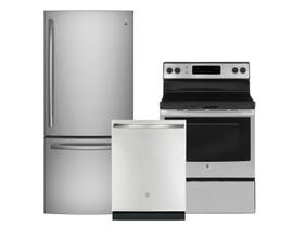 GE Appliances 3-Pc Appliance Package in Stainless 101783/117835/108141
