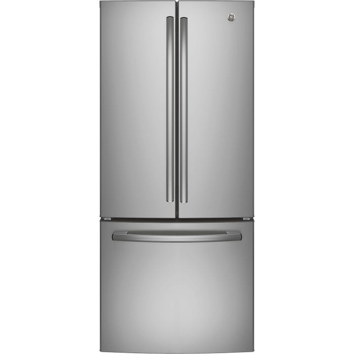 GE 30 inch 20.8 cu.ft. French Door Bottom Mount Refrigerator in Stainless Steel GNE21DSKSS