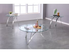 Brassex Malcolm 3pc Coffee Table Set in Chrome 1019-13