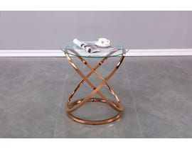 Brassex Athens Accent Table in Rose Gold 102-60