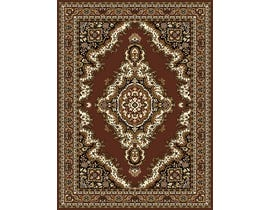 Midas 5X8 Area Rug in Medium Brown/ Brown 1020-B0133