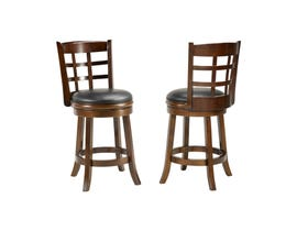 Brassex Manchester 24-inch Swivel Bar stool (set of 2) Espresso 1021-24