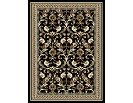 Midas 8X11 Area Rug in Black/Ivory 1023-B0111