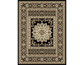 Midas Small 5X8 Area Rug in Black/Ivory 1024-B0111