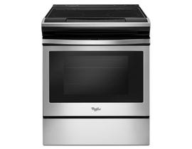 Whirlpool 30 inch 4.8 cu.ft. slide-in electric range in stainless steel YWEE510S0FS