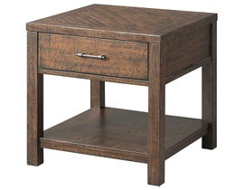 High Society Jax wooden Occasional lift-top end table in brown