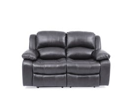Amalfi Dual Power Reclining Loveseat in Dark Charcoal 8251
