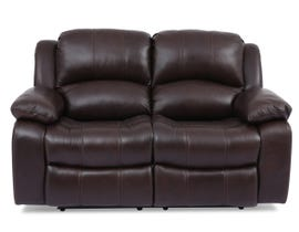 Amalfi Dual Power Reclining Leather Loveseat in Dark Brown 8251