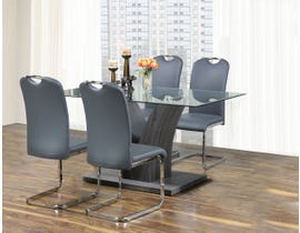 Kwality Lorie 5-piece grey dinette T-7400