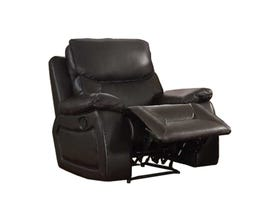 Beverly leather look recliner in dark brown