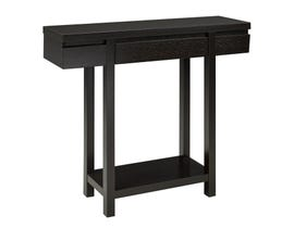 Brassex Console Table with Drawer in Dark Brown 10341/172016