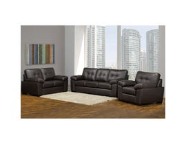 Sofa by Fancy Neptune Collection 3-Piece Leather Gel Sofa Set in Chocolate 4392