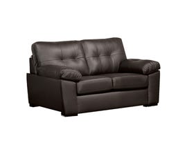 SBF Upholstery Neptune Collection Leather Gel Loveseat in Chocolate 4392