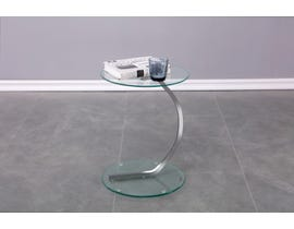 Brassex Calypso Accent Table in Chrome 105-CR