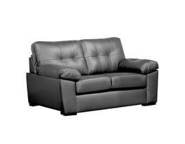 Sofa by Fancy Neptune Leather Gel love seat in Roman Grey 4392