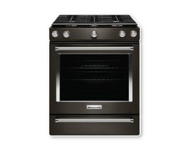 KitchenAid 30 Inch 5-Burner Gas Slide-In Convection Range KSGG700EBS