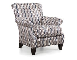 Decor-Rest Percy Fabric Chair in Multi-color Patterned Navy Accent 2279