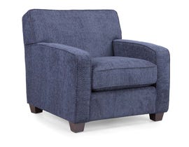 Decor-Rest Barbara Collection Fabric Chair in Navy 2401