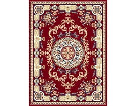 Midas Small 5X8 Area Rug in Red / Blue 1062-X0122
