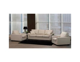 SBF Upholstery 3pc Fabric Sofa Set in Turbo Beige 4416