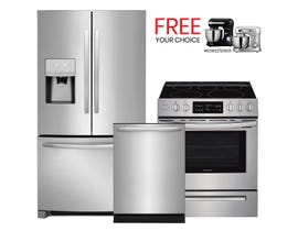 Frigidaire 3pc Appliance Package in Stainless 111814/115329/108001