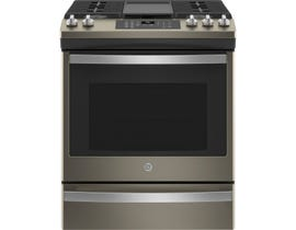 GE Appliances 30 inch 5.6 cu. ft. Slide-In Gas Range with No Preheat Air Fry in Slate JCGS760EPES