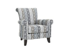 Decor-Rest Barbara Collection Fabric Accent Chair in Pebblestone Pattern Grey 2756
