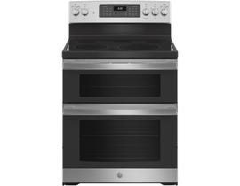 GE Appliances 30 inch 6.6 cu. ft. Free-Standing Double Oven Convection Electric Range in Stainless Steel JBS86SPSS