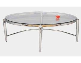 Standa chrome glass oval coffee table J557