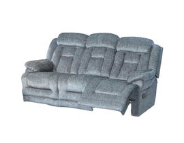 Flair Moraine Fabric Reclining Sofa in Grey