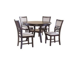 Gia Series 5-piece Dining Set in Cherry D1701-52S