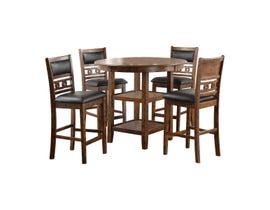 Gia Series 5-piece dining set in Brown D1701-50S