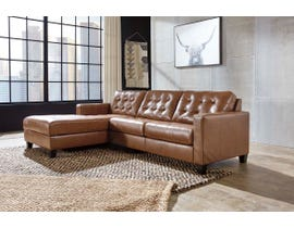 Signature Design by Ashley Baskove Series 2pc LHF Corner Chaise Sectional in Auburn 11102-16-56