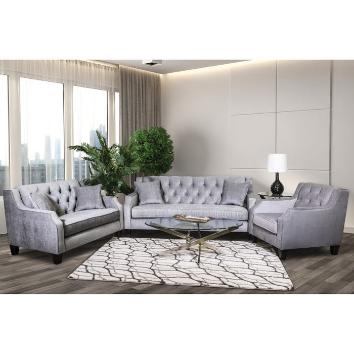 Phenomenal Sofa By Fancy 3 Piece Fabric Tufted Living Room Set In Grey 2245 Download Free Architecture Designs Ogrambritishbridgeorg