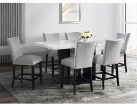 High Society Valentino Series Counter Height Set with Grey Chairs