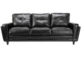 Mazin Leather Gel Sofa in Black 9083