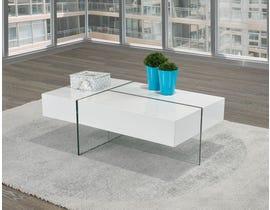 Brassex Coffee Table w/3 Push Open Sides & Storage 340-02