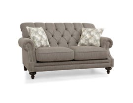 Decor-Rest Fabric Loveseat in Taupe 2133