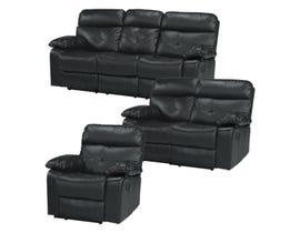 Primo International Jett Motion 3pc Sofa set in Slate