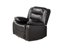 McMurry Leather Look Recliner in Black MCMU-BPU-03