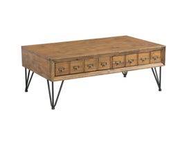 High Society Boone Collection Coffee Table in Natural Rustic TBN100