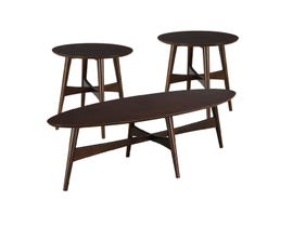 High Society Edie Collection Coffee Table Set in Cherry
