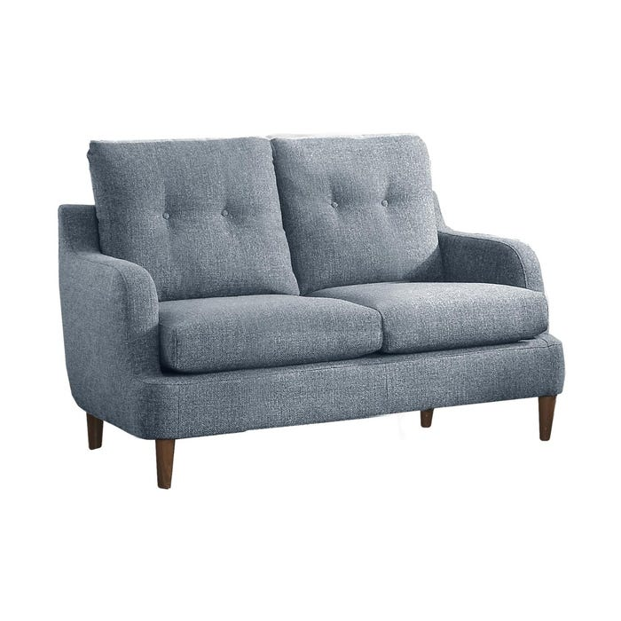Homelegance Furniture Fabric Loveseat In Grey 1219