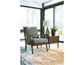 Signature Design by Ashley Zardoni Collection Fabric Accent Chair in Grey 11402