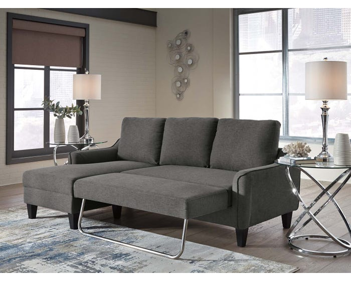 Surprising Signature Design By Ashley Jarreau Collection Sofa Chaise In Grey 1150271 Machost Co Dining Chair Design Ideas Machostcouk
