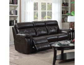 Kwality Laura Collection Leather Power Reclining Sofa in Dark Chocolate 7070