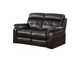 Sofa By Fancy Laura Collection Leather Power Reclining Loveseat in Dark Chocolate 7070