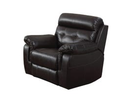 Kwality Laura Collection Leather Power Recliner in Dark Chocolate 7070