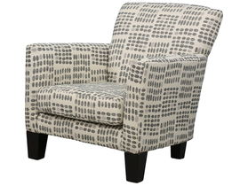 Edgewood Furniture Fabric Accent Chair in White C045